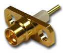 MMCX 2 Hole Panel Mount Jack with Solder Post and Extended Dielectric