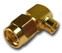 SMA right angle solder plug